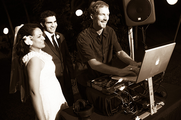 Wedding Couple with our DJ